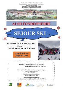 Affiche Ski Fondespierre