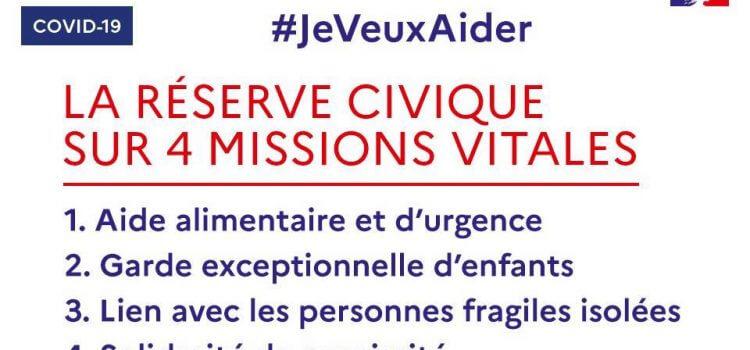 image COVID-19, Réserve Civique et Solidarité