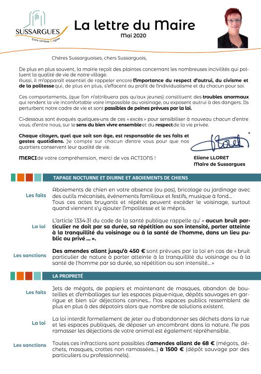 Image Lettre du Maire Mai 2021 – Incivilités