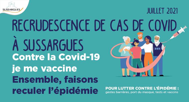 Image RECRUDESCENCE DE CAS DE COVID A SUSSARGUES