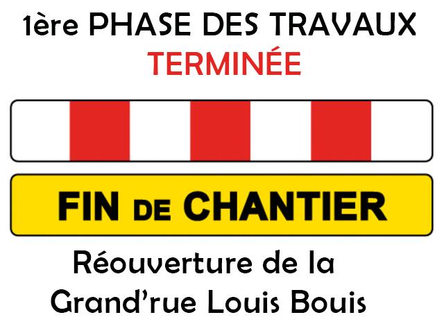 Image INFO TRAVAUX : OUVERTURE DE LA GRAND'RUE DÈS JEUDI 21/10